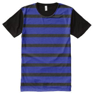 Blaues Schwarz-modernes Designer-Mann-Shirt T-Shirt Mit Komplett Bedruckbarer Vorderseite