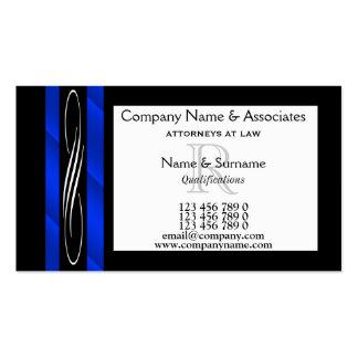 Blaues Schwarz-weißes des Visitenkarten