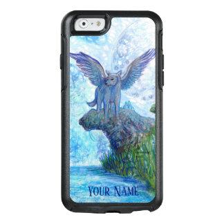 Blaues Schwarz-Wolf-Mond-magisches Lila OtterBox iPhone 6/6s Hülle