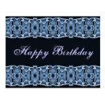 Blaues Schwarzes alles Gute zum Geburtstag Postkarte