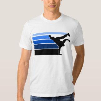 Blaues Schwarzes BBOY Steigung T-shirt