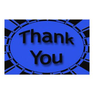 blaues Schwarzes danken Ihnen 14 X 21,6 Cm Flyer