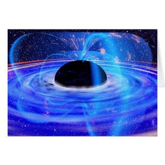 Blaues schwarzes Loch der NASAs Karte