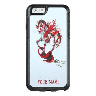 Blaues Schwarzes personifizieren rotes Koi OtterBox iPhone 6/6s Hülle