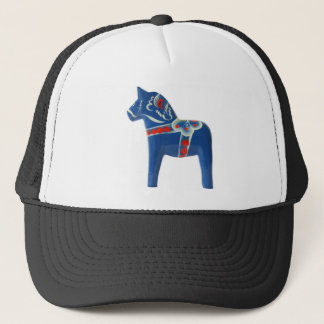 Blaues Schwede Dala Pferd Truckerkappe