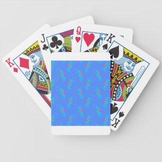Blaues Seepferd-Muster Bicycle Spielkarten