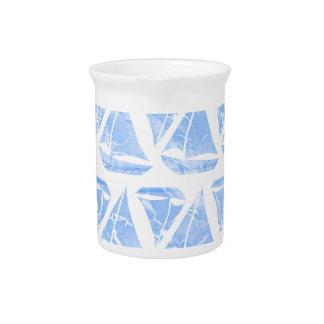 Blaues Segelboot-Wasser-Muster Krug