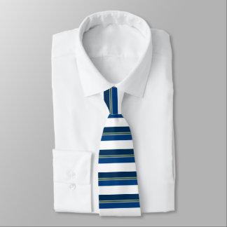 Blaues Silber und Grün mit einem Band versehene Krawatte