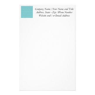 Blaues Sonnenaufgang-Entwurfs-Muster Personalisierte Druckpapiere