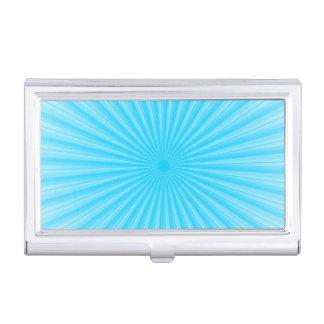 Blaues Sonnenschein-Radialstrahl-Muster Visitenkarten Etui