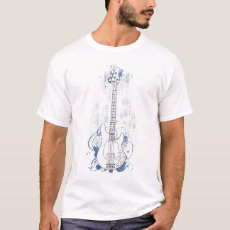 Blaues Spritzen des sauberen Bass-Hintergrundes T-Shirt