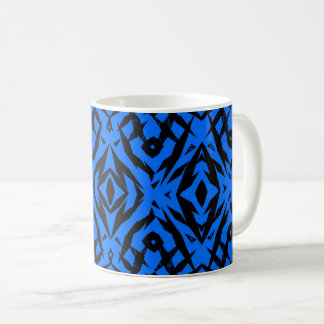Blaues Stammes- Formmuster Kaffeetasse