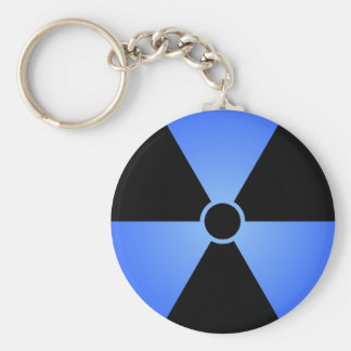 Blaues Strahlungs-Symbol Schlüsselanhänger