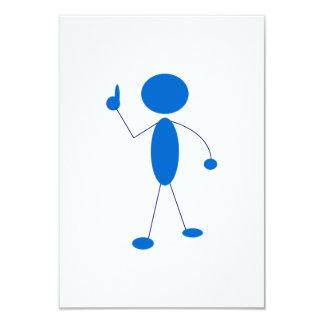 Blaues Strichmännchen Nr. eine Individuelle Ankündigung