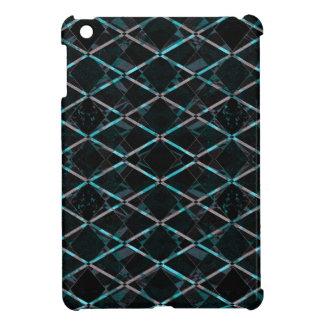 Blaues strukturiertes Diamantmuster iPad Mini Hülle