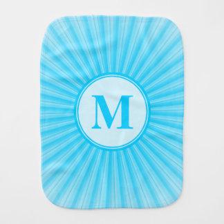 Blaues Sun-Monogramm personalisiert Spucktuch