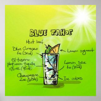 Blaues Tahoe Cocktail-Plakat Poster