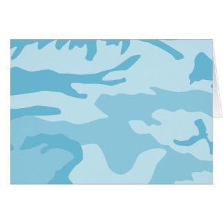 Blaues Tarnungs-Muster Karte