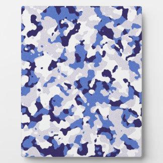 Blaues Tarnungsmuster Fotoplatte