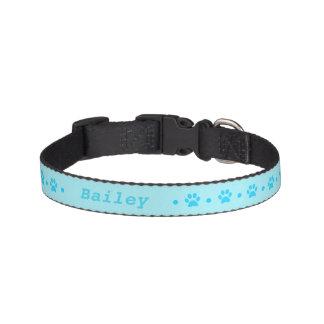 Blaues Tatzen-Druck-Polka-Punkt-Hundehalsband Haustierhalsband