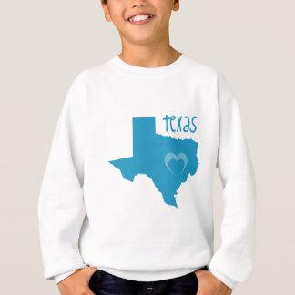 Blaues Texas mit Herzen Sweatshirt