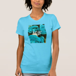 Blaues TGIF T-Shirt