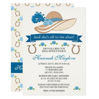 Blaues Themed Hut-Brautparty Kentuckys Derby Karte
