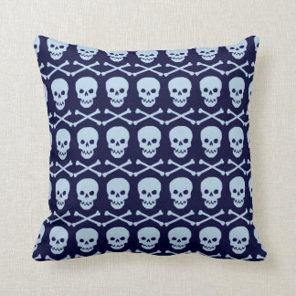 Blaues Totenkopf mit gekreuzter Kissen