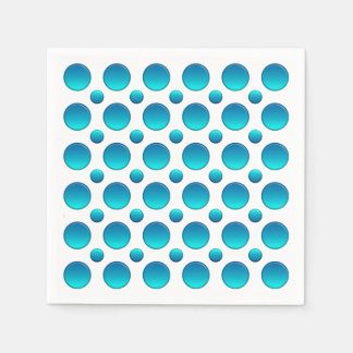 blaues Tupfenmuster Papierserviette