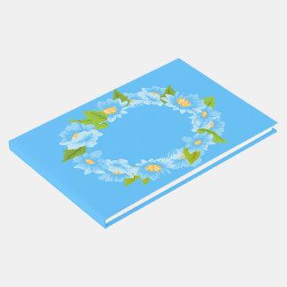 Blaues Türkis-Blumen-Liebe mit Blumenwedding Gästebuch