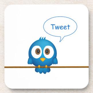 Blaues Twittervogeltweeten Getränkeuntersetzer