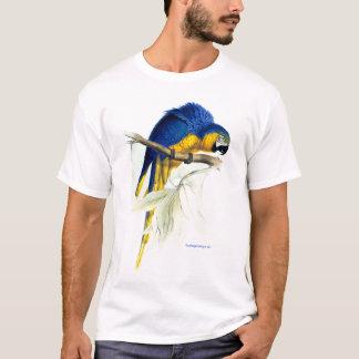 Blaues u. gelbes Maccaw (Papagei) Bild durch T-Shirt