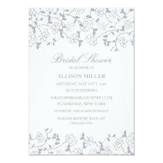 Blaues u. lila Rosen-Garten-Brautparty laden ein Karte