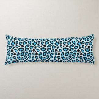 Blaues u. schwarzes Leopard-Druck-Muster Seitenschläferkissen
