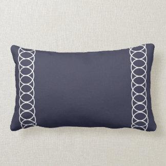 Blaues u. weißes Kreis-Gitter Lendenkissen