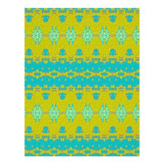 Blaues und gelbes abstraktes Muster Flyer