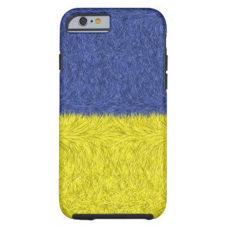 Blaues und gelbes abstraktes Muster Tough iPhone 6 Hülle