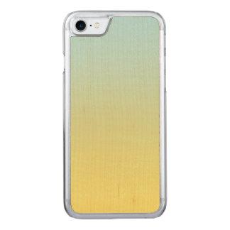 Blaues und gelbes Ahorn-Holz Carved iPhone 8/7 Hülle