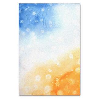 Blaues und gelbes Aquarell Seidenpapier