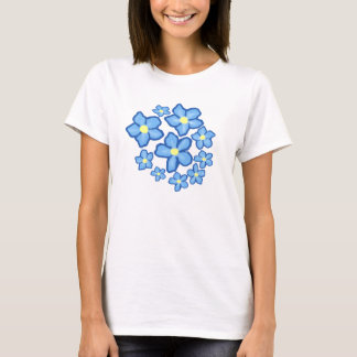 Blaues und gelbes Blumen-Shirt T-Shirt