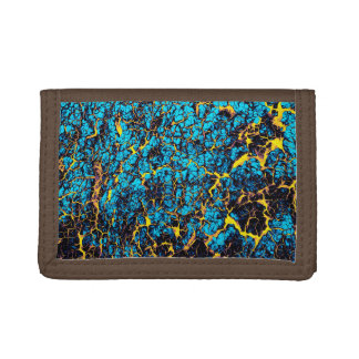 Blaues und gelbes hell gefärbt abstraktes Muster