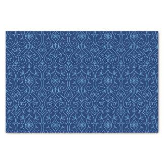 Blaues und goldenes dekoratives Chanukka Seidenpapier