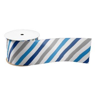 Blaues und graues gestreiftes Band Satinband