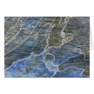 Blaues und graues Holz Grußkarten