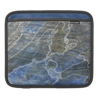 Blaues und graues Holz Sleeve Für iPads