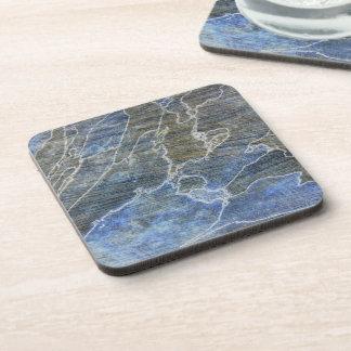 Blaues und graues Holz Untersetzer