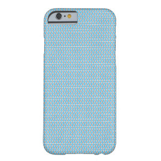 blaues und graues Muster Barely There iPhone 6 Hülle