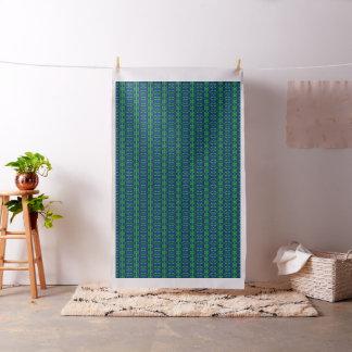 Blaues und grünes abstraktes Muster Stoff
