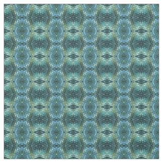 Blaues und grünes geometrisches Mosaik-Muster Stoff