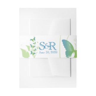 Blaues und grünes Schmetterling Einladungsbanderole